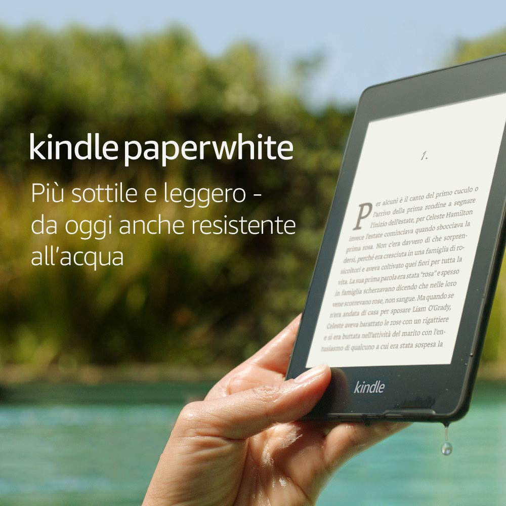 Kindle Paperwhite | E-reader resistente all�acqua con 8 GB di memoria