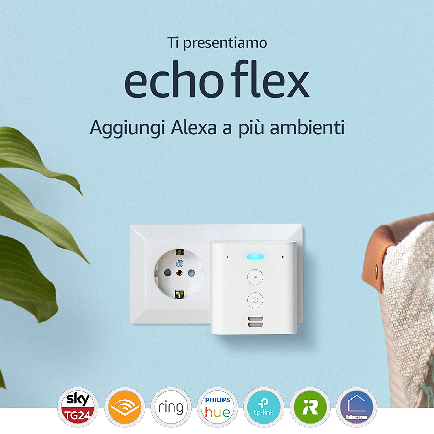 Ti presentiamo Echo Flex - Controlla i dispositivi per Casa Intelligente con comandi vocali grazie ad Alexa: Amazon.it