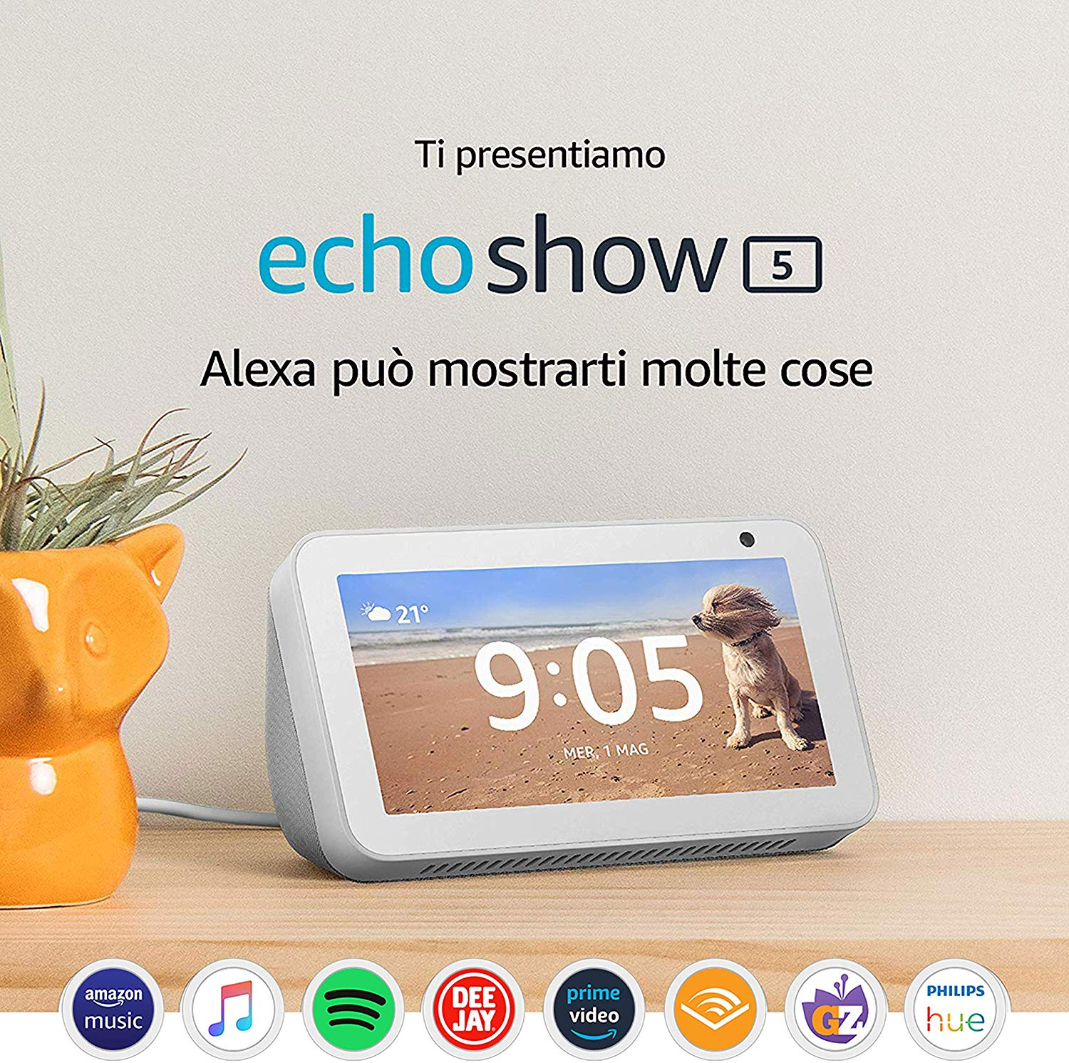 Ti presentiamo Echo Show 5 - Schermo compatto e intelligente con Alexa, Bianco: Amazon.it